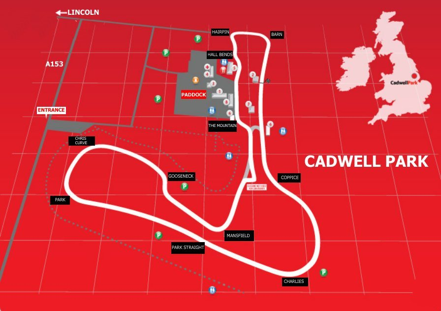 cadwell park map