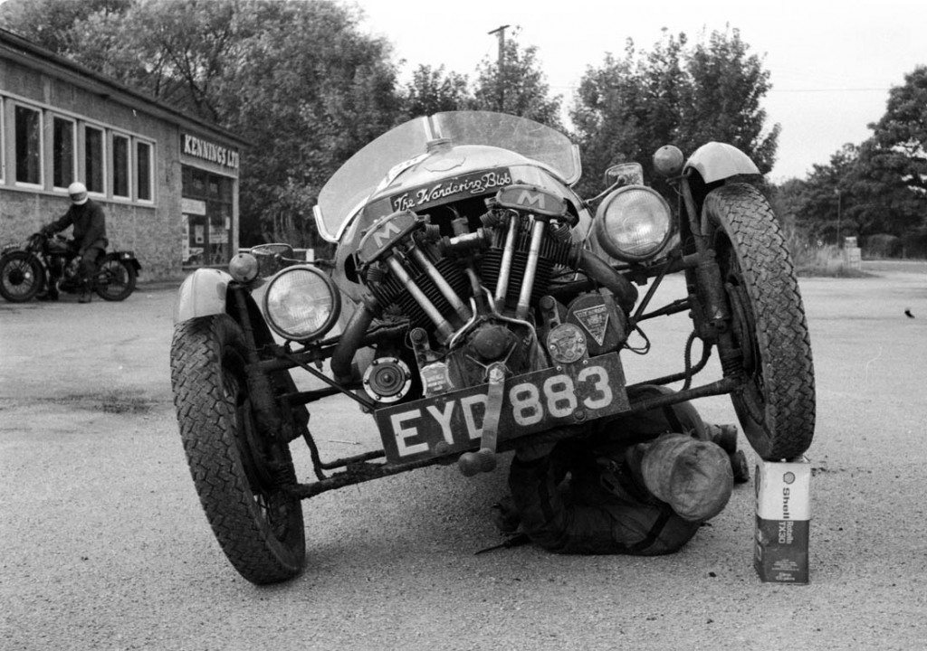 edinburgh Trial '81, Dennis Rogers and his ex-Harris ISDT car 1100