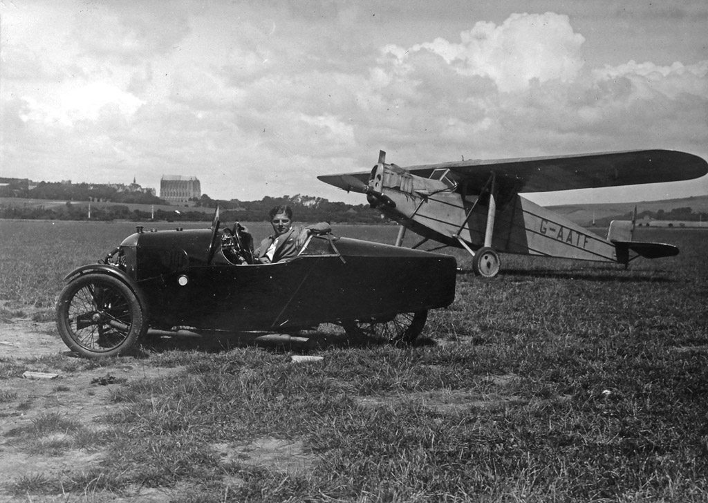 G-AATF at Shoreham with Morgan