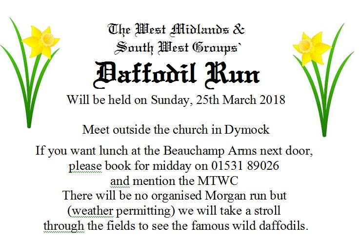 West Midlands and South West Daffodil Run @ Beauchamp Arms | The Village | England | United Kingdom