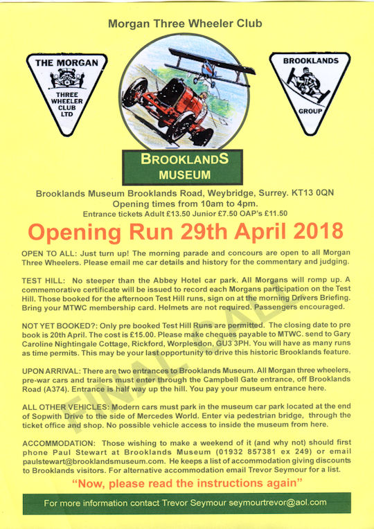 Opening Run - Brooklands Motor Museum @ Brooklands Motor Museum | Weybridge | England | United Kingdom