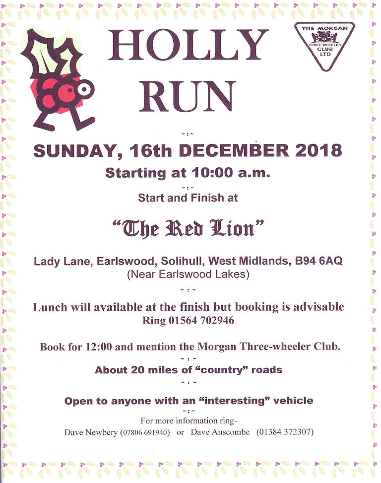 West Midlands Holly Run @ The Red Lion | Earlswood | England | United Kingdom