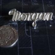BA17 Morgan Script Badge